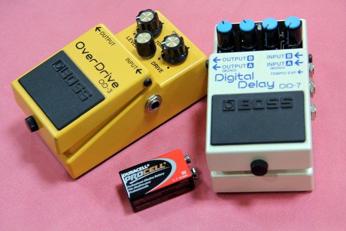 BOSS エフェクター 電池 ディレイ