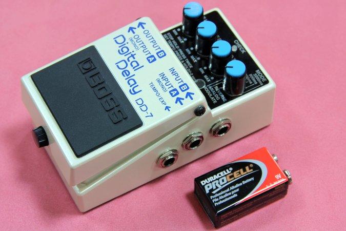 BOSS DD-7 デジタルディレイ 電池