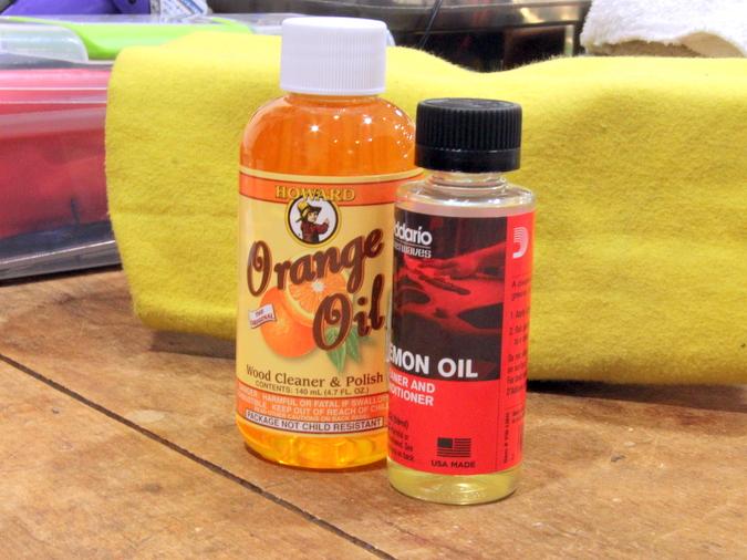 ギター オレンジオイル 使い方