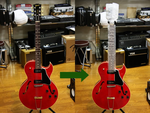 Gibson ES-135の梱包